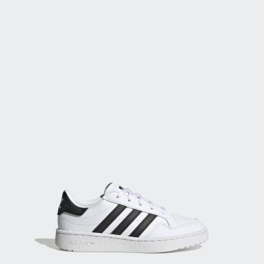 Kids Originals White Team Court Shoes