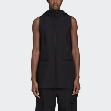 Doudoune sans manches Y-3 Classic Refined Wool Stretch Hooded Noir Femmes Y-3
