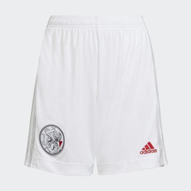 Kids Football White Ajax Amsterdam 21/22 Home Shorts