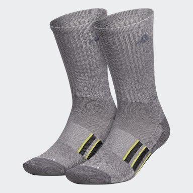 Men's Training Black Cushioned Crew Socks 2 Pairs