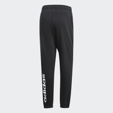 Pants Essentials Linear Tapered Negro Hombre Diseño Deportivo