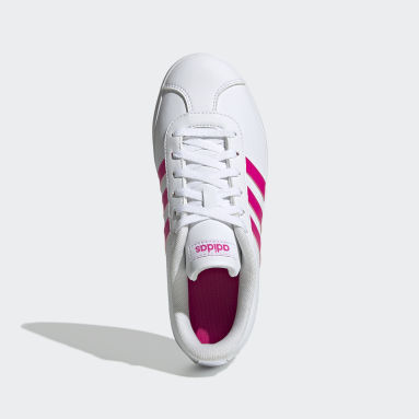 Tenis VL adidas Court 2.0 Blanco Niño Diseño Deportivo