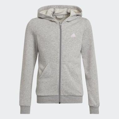 Girls Lifestyle Grey adidas Essentials Track Jacket