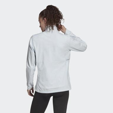 Women Running Blue adidas Own The Run Soft Shell Jacket