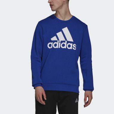 Men's Essentials Blue Essentials Big Logo Sweatshirt