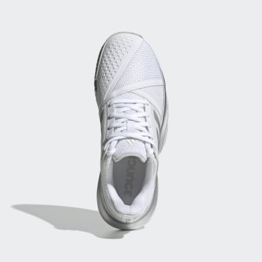 Women's Tennis White CourtJam Bounce Wide Shoes