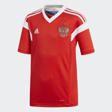 Jersey Russia Home Replica Rojo Niño Fútbol