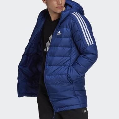 Männer City Outdoor Essentials Daunenparka Blau