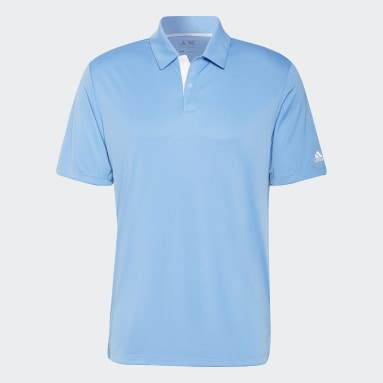 Solid 3-Stripes Polo Shirt Niebieski