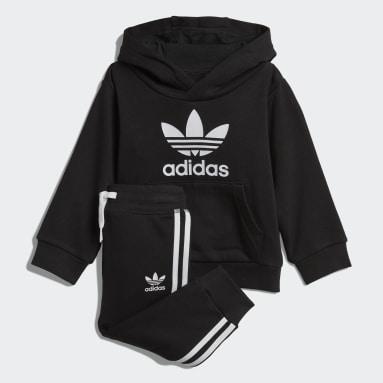 черный Комплект: худи и брюки Trefoil
