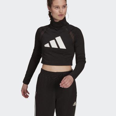 Women Sportswear Black adidas Sportswear Long-Sleeve Top