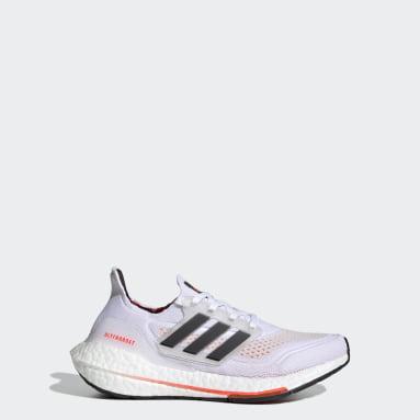 เด็ก วิ่ง สีขาว รองเท้าวิ่ง Ultraboost 21 Primeblue Boost