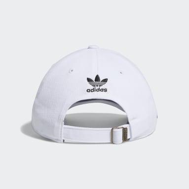 Men's Originals White Relaxed Cheetah Trefoil Hat