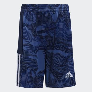 Children Running Blue Camo Shorts