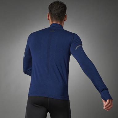 Maglia da running adidas Primeknit Mid-Layer Blu Uomo Running