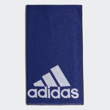 ADIDAS TOWEL L Azul Natación