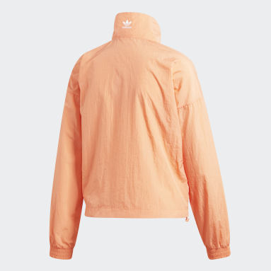 Women Originals Orange Large Logo Track Jacket