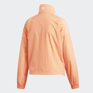 Women Originals Orange Large Logo Track Top