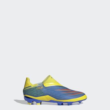 Bota de fútbol Marvel X Ghosted+ Laceless césped natural seco Azul Niño Fútbol
