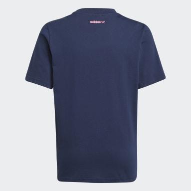 Funny Dino Graphic T-skjorte Blå
