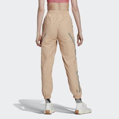 Women's adidas by Stella McCartney Beige adidas by Stella McCartney Woven Pant Shorts