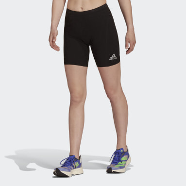 Women's Running Black Adizero Primeweave Short Running Leggings