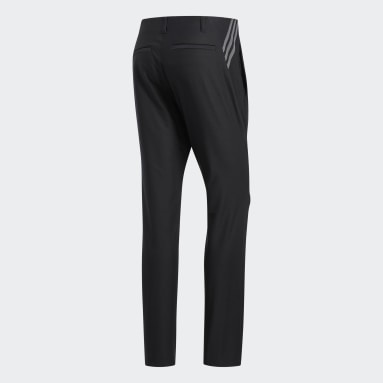 Men Golf Black Ultimate365 3-Stripes Tapered Pants