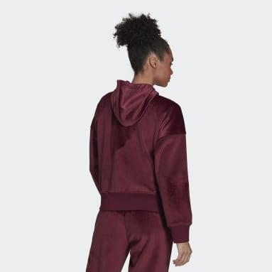 Women Sportswear Burgundy adidas Sportswear Future Icons Corduroy Hoodie