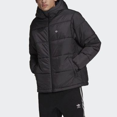 Men's Originals Black Padded Hooded Puffy Jacket