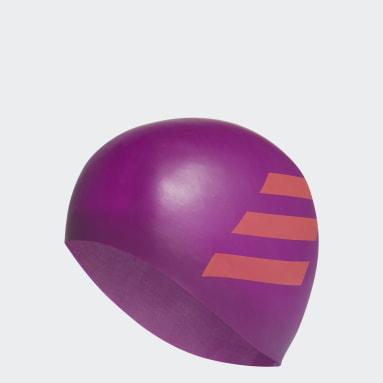 фиолетовый Плавательная шапочка 3-Stripes Silicone