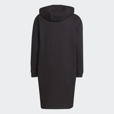 Vestido con capucha Primegreen Future Icons 3 bandas Negro Niño Sportswear