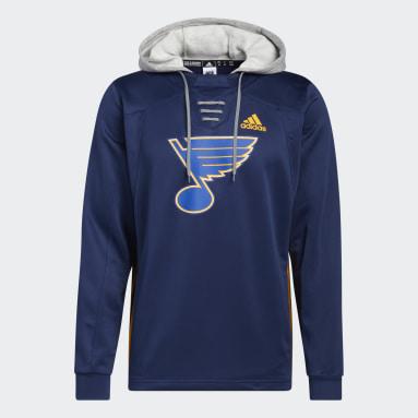 Men's Hockey Blue Blues Skate Lace Hoodie
