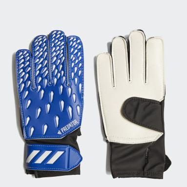 Youth 8-16 Years Football Blue Predator Training Goalkeeper Gloves