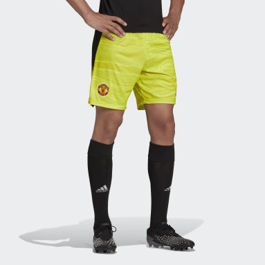Football Yellow Manchester United 21/22 Home Goalkeeper Shorts