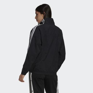 Women's Originals Black Adicolor Classics Lock-Up Track Jacket