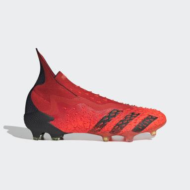 Voetbal rood PREDATOR FREAK + FG Voetbalschoenen