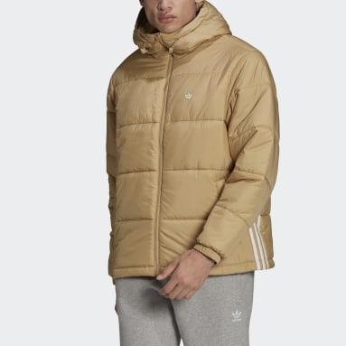 Men's Originals Beige Padded Hooded Puffy Jacket