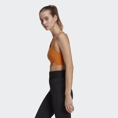Ženy Trailový Beh oranžová Športová podprsenka Ultimate