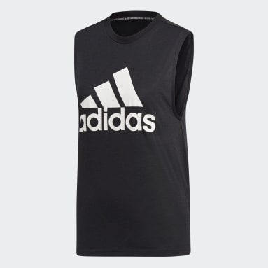 Camiseta sin mangas Must Haves Badge of Sport Negro Mujer Sportswear