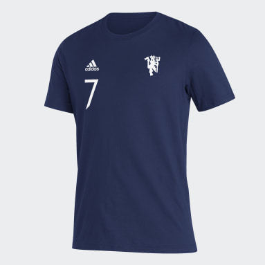 Men's Soccer Blue Manchester United Player Tee