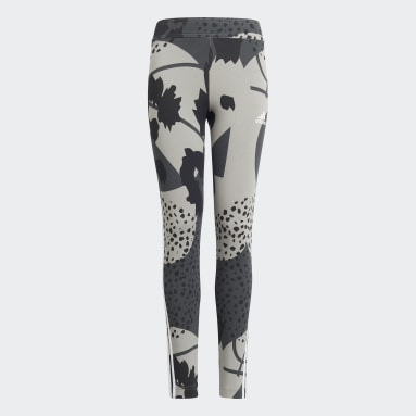 Tight Future Icons Sport Cotton 3-Stripes Wild Shapes Allover-Print gris Adolescents Yoga