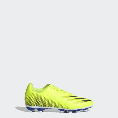 Kids 4-8 Years Football Yellow X Ghosted.4 Flexible Ground Boots