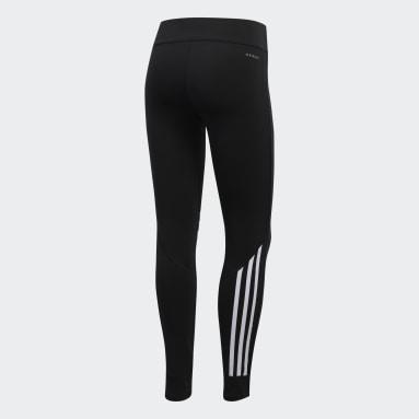 Women Running Black Run It 3-Stripes 7/8 Leggings