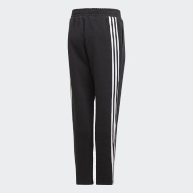 Boys Fitness Og Træning Sort 3-Stripes Doubleknit Tapered Leg bukser