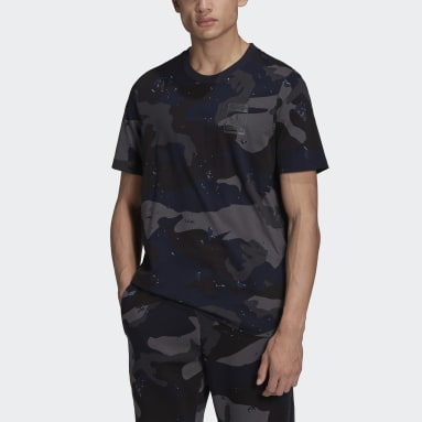 Heren Originals blauw Graphics Camo Allover Print T-shirt