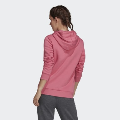 Women Sport Inspired Pink LOUNGEWEAR Essentials Logo Fleece Hoodie