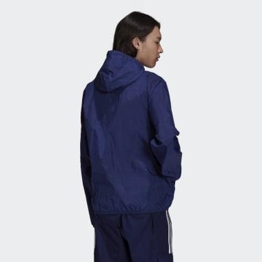 Corta Viento Adicolor Essentials Trifolio Azul Hombre Originals
