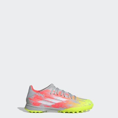 Kids Football Grey X Speedflow.3 Turf Boots