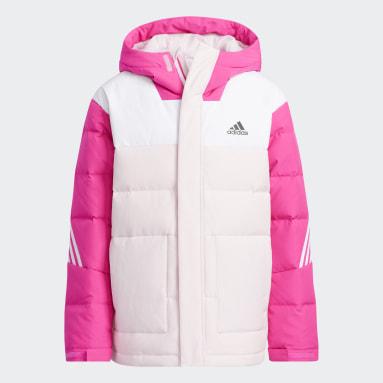 Kids Gym & Training Pink Colorblock Down Jacket
