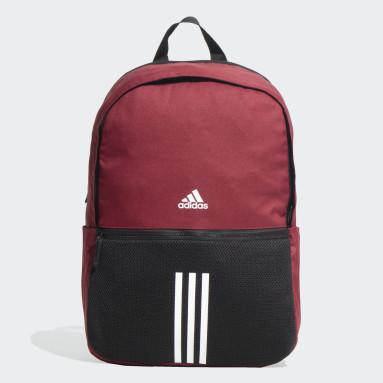 Lifestyle Burgundy Classic 3-Stripes Backpack